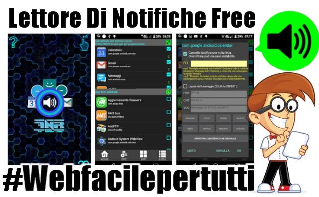 Lettore di notifiche free | Applicazione che legge le notifiche ed i messaggi al posto dell'utente