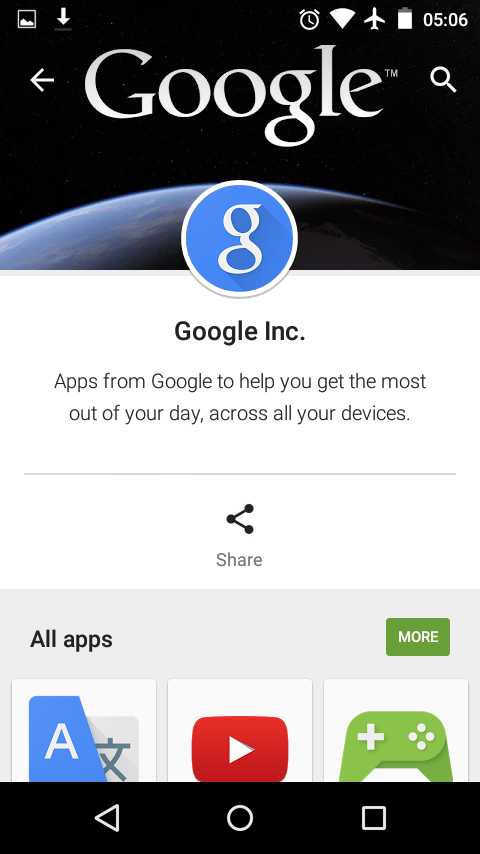 Google Inc. Developer Pages