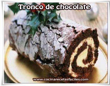 Recetas navideñas, postres, tronco de chocolate