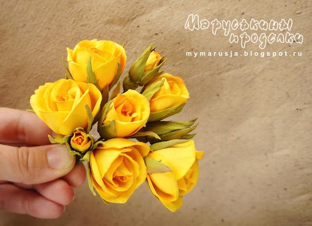 розы из фоамирана мастер-класс