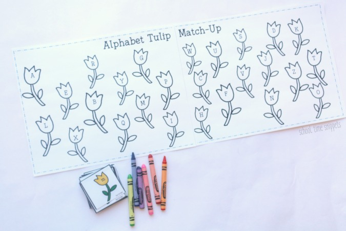 color the letters alphabet matching worksheet