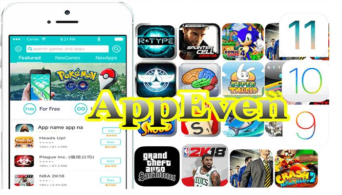 AppEven للايفون لتحميل كل التطبيقات والالعاب مجانا بدون استثناء