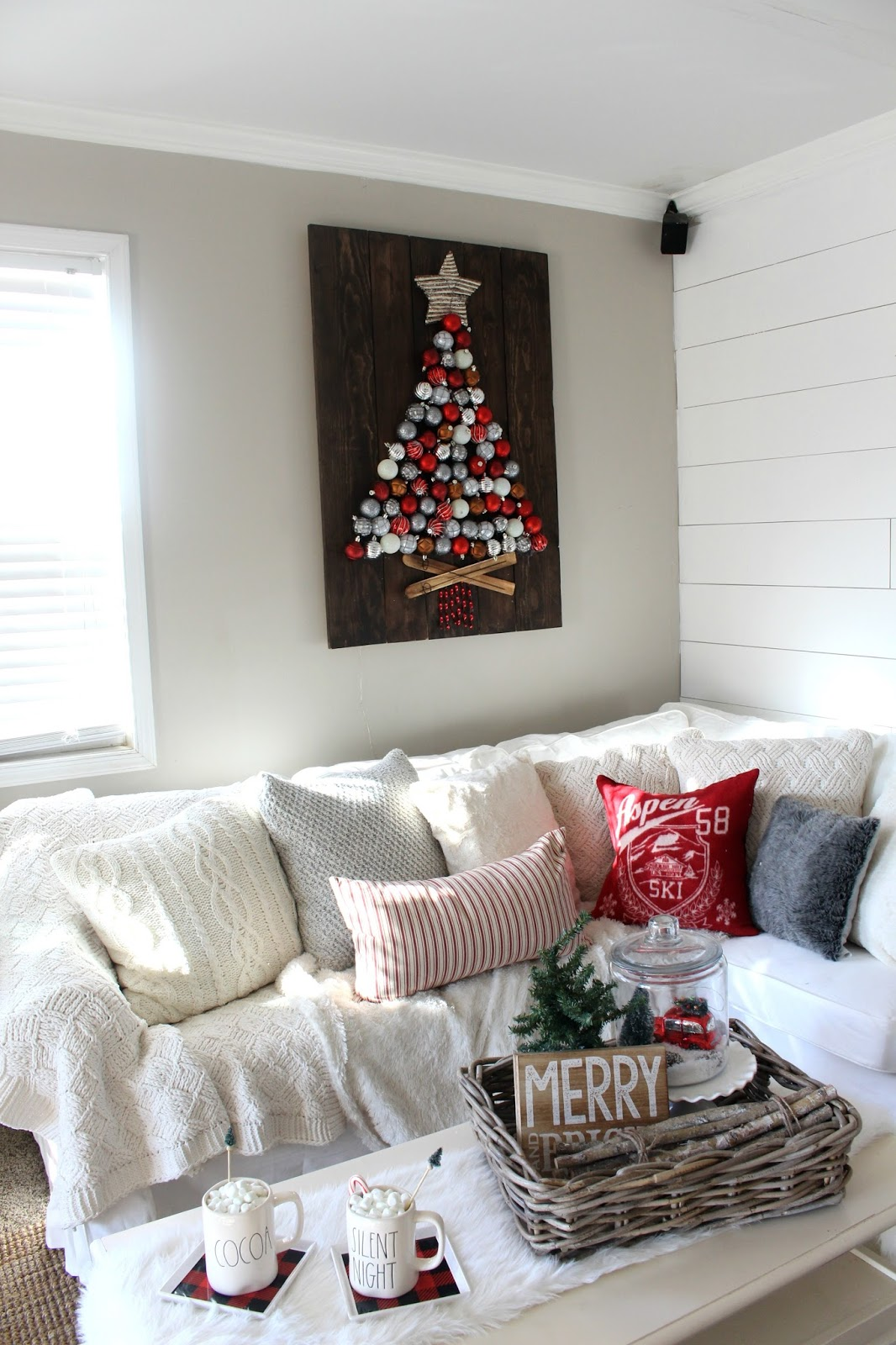 farmhouse glam living room movie theater themed rustic christmas tour - the