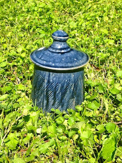 Blue Glazed Lidded Jar by Future Relics Pottery