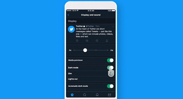 twitter adds a new super dark mode and so different you can activate it