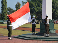 Upacara HUT Proklamasi Kemerdekaan Republik Indonesia ke-71 di Madivif 2 Kostrad