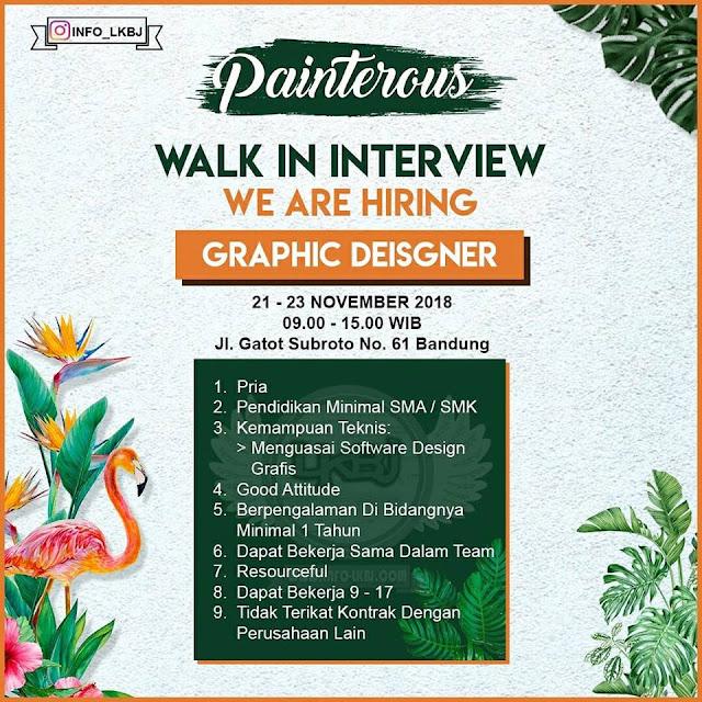 lowongan kerja graphic designer painterous bandung