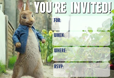 peter rabbit 2018 printables