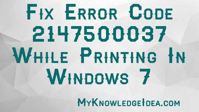 fix error 2147500037