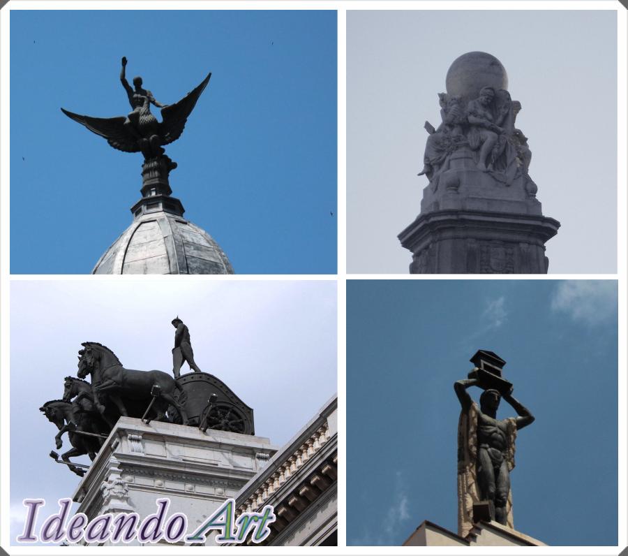 Esculturas edificios Madrid