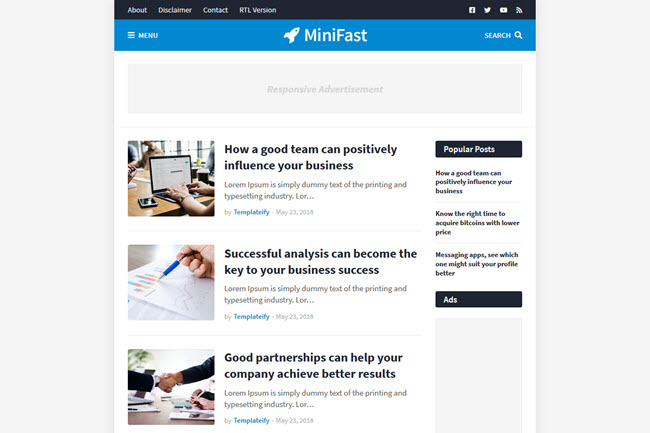 Minifast SEO Friendly Blogger Template