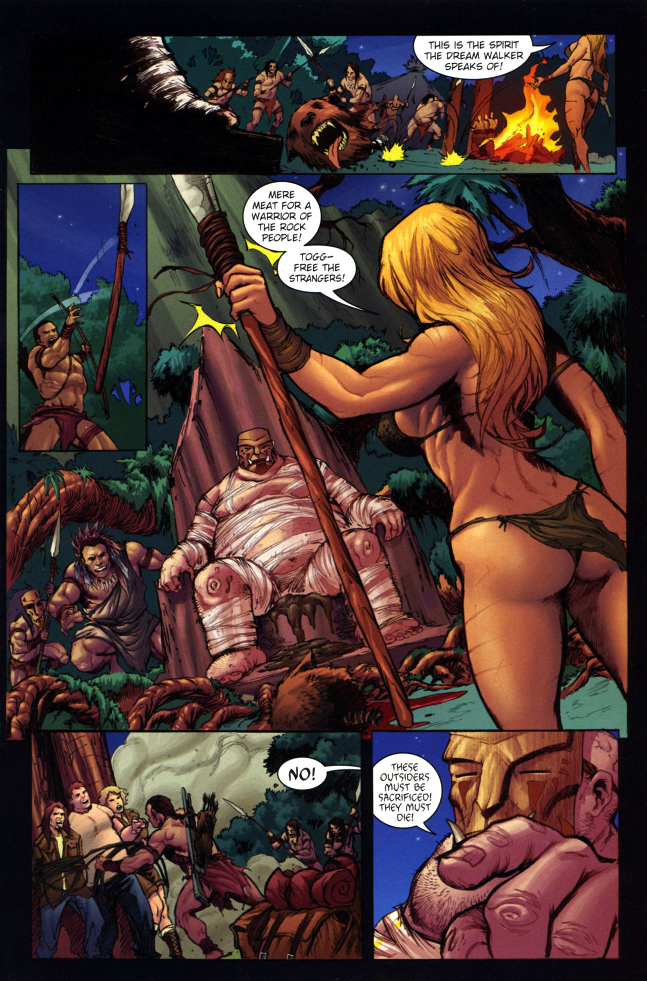 Read online Jungle Girl comic -  Issue #4 - 10