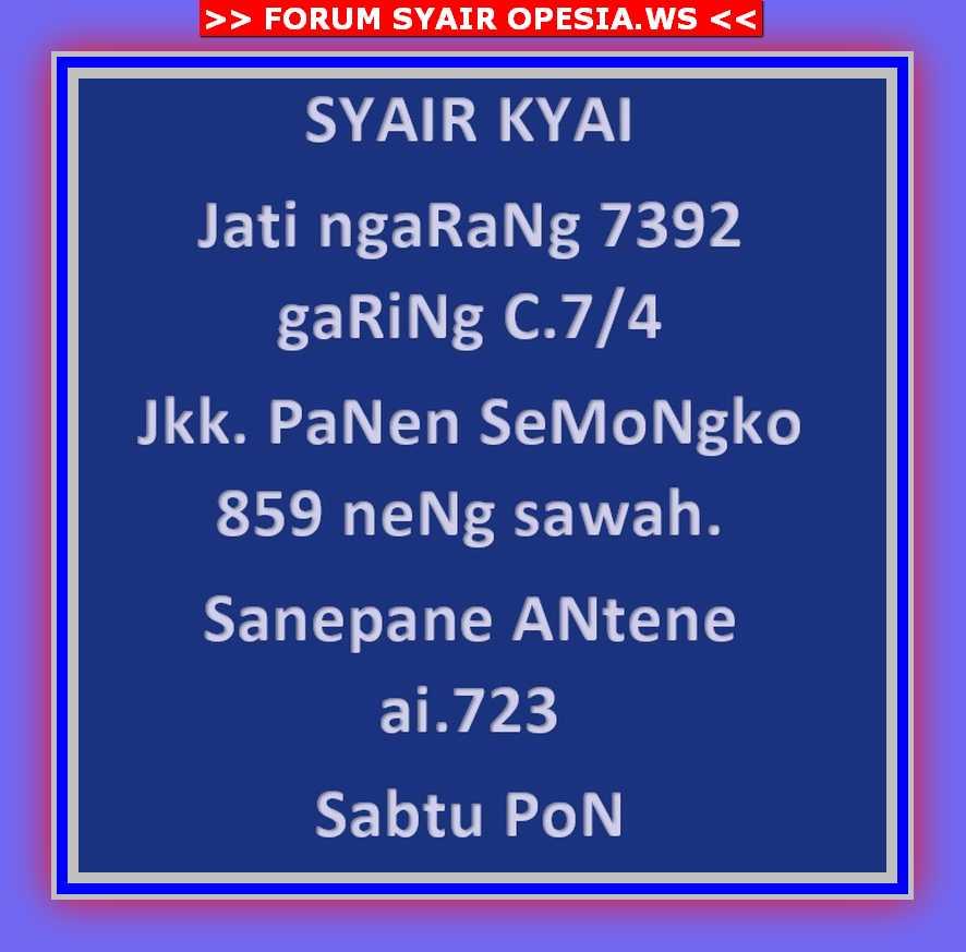 Kode syair Singapore Sabtu 9 November 2019 10