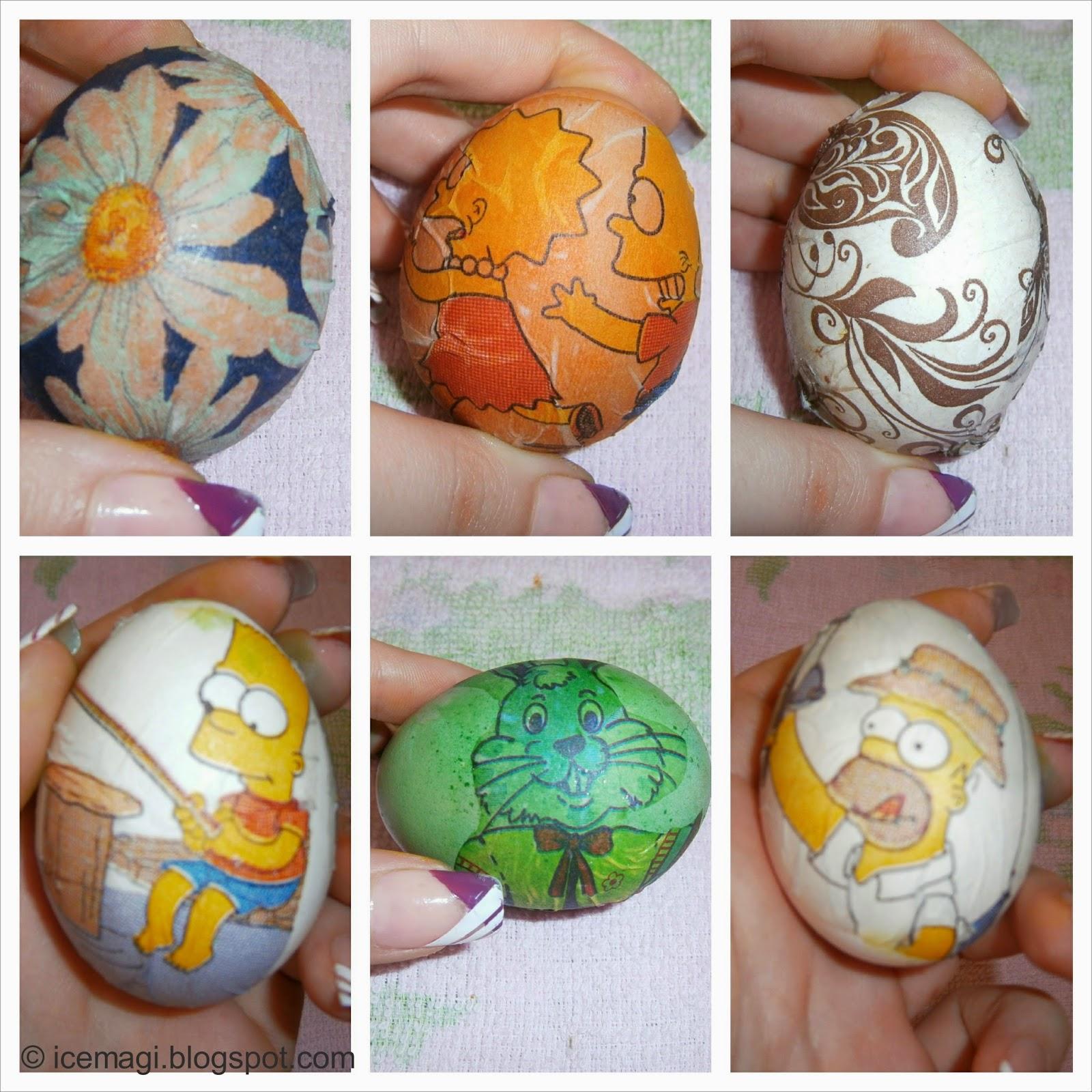 декупаж яйца Великден