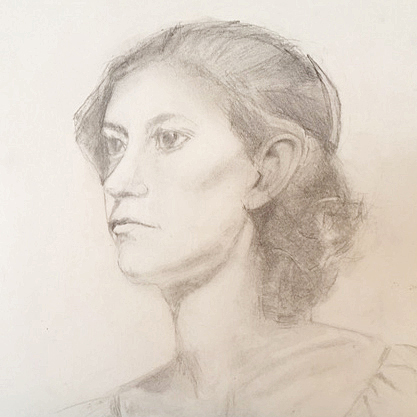 Anna ~ Graphite ~ Nancy Van Blaricom