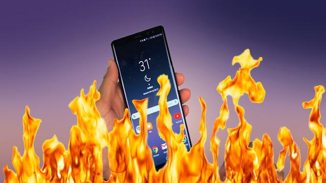رصد أول حالة إحتراق لهاتف Galaxy Note 9 !