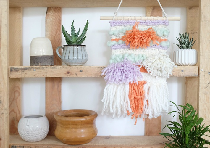 9 Tutoriales para crear colgantes y tapices de lana