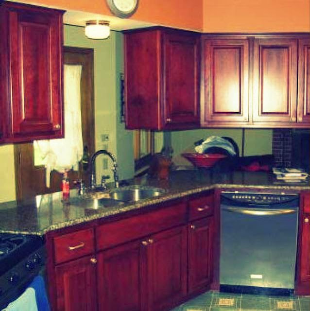 Inexpensive kitchen cabinet example