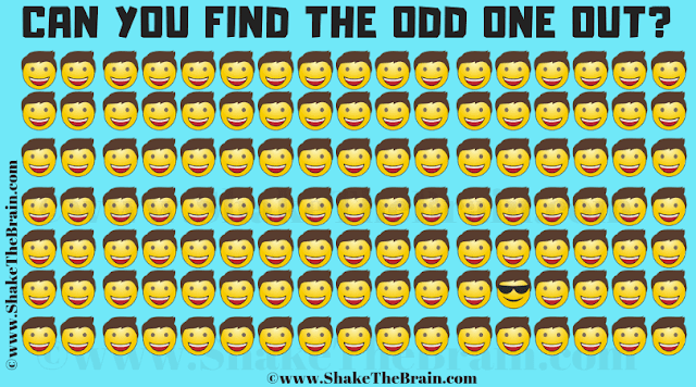 In this Find the Odd Emoji Out Picture Puzzle, your challenge is to find the Emoji which is different from others.