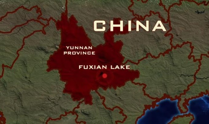 A Mysterious Pyramid-Shaped Structures And Huge City Beneath Lake Fuxian