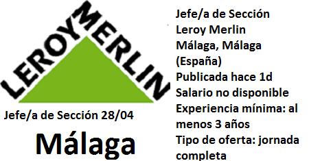 Lanzadera de Empleo Virtual Málaga, Oferta Leroy Merlin