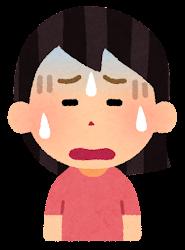 困る表情のイラスト4(女性)