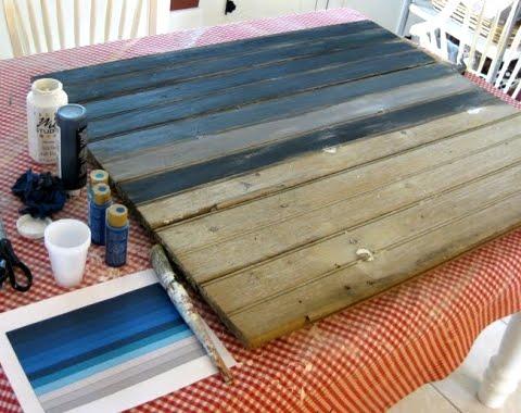wood barn door as mantel decor