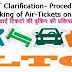 DOPT Clarification- Procedure for Booking of Air-Tickets on LTC