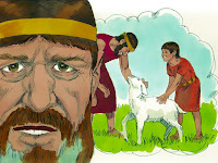 Пророк Натан разказва историята за сиромаха и агнето