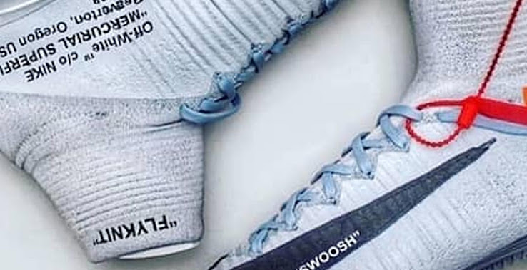 0fed57cf64c Custom-Made Nike x Off-White Virgil Mercurial Superfly & Tiempo Boots  Revealed - Footy Headlines