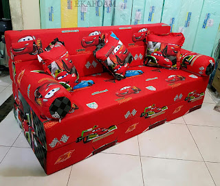 Sofa bed inoac motif The car merah atau mcquin