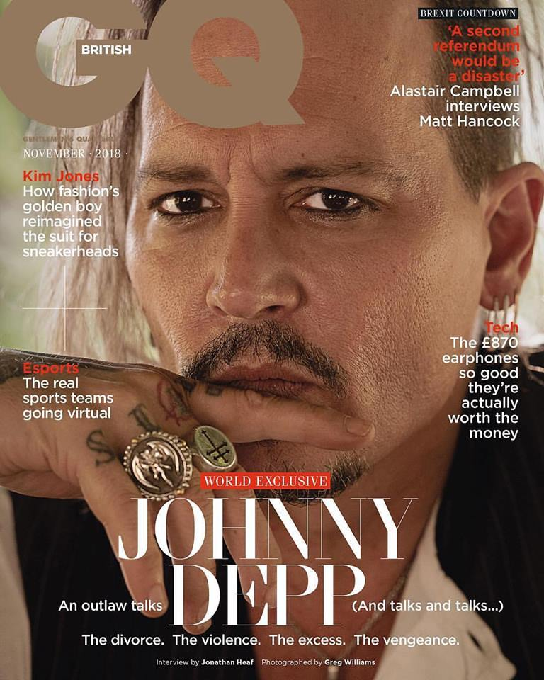 Johnny Depp for GQ UK November 2018