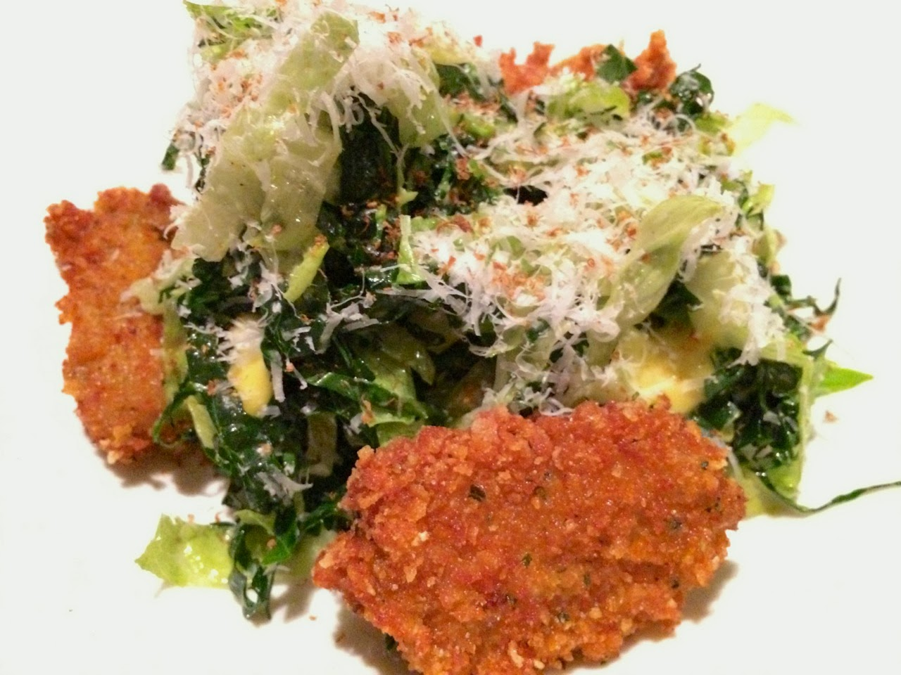 Aggio caesar salad with fried oysters