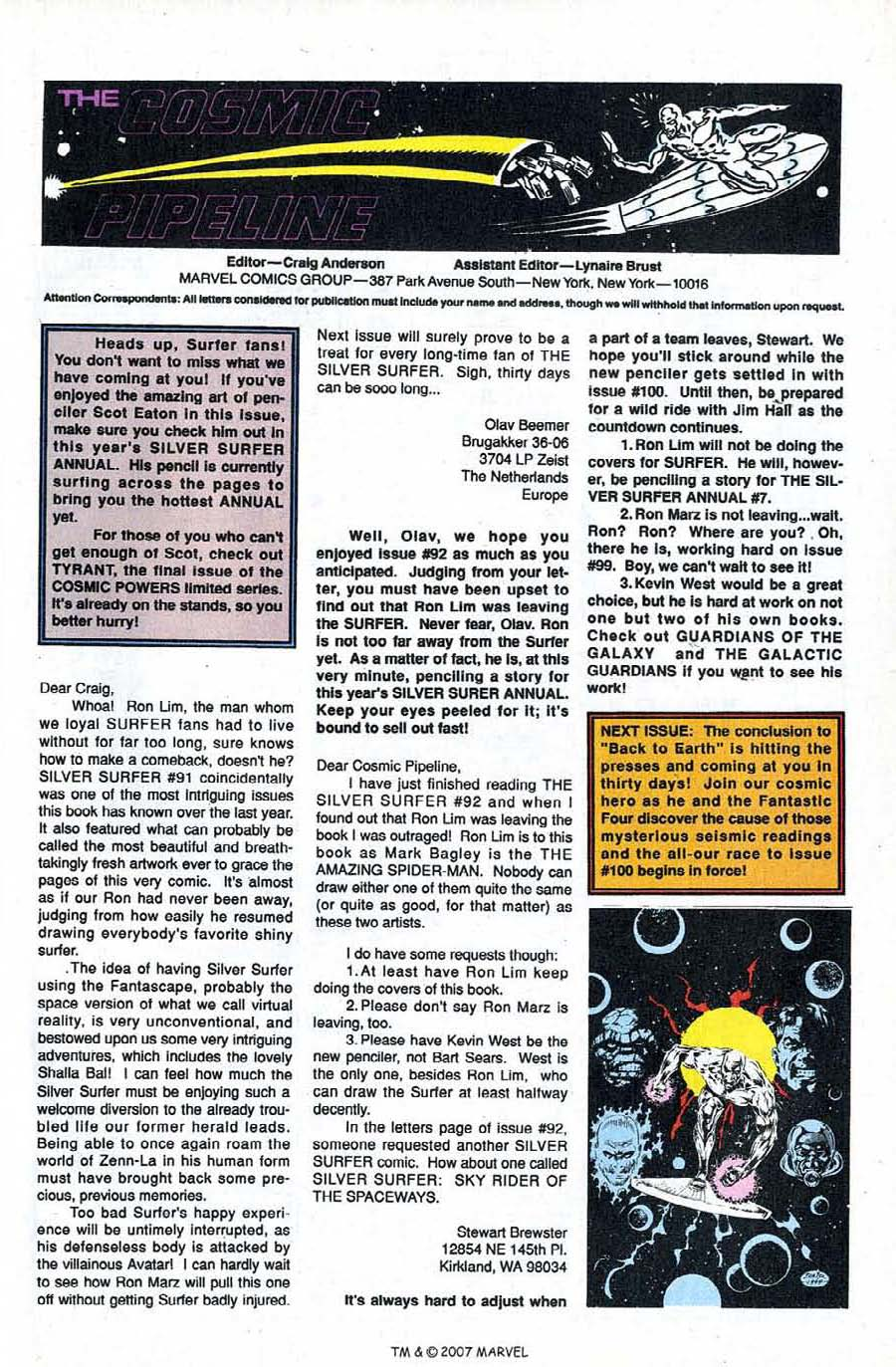 Read online Silver Surfer (1987) comic -  Issue #95 - 33