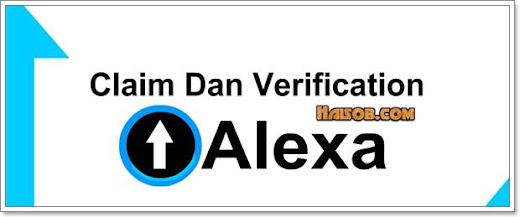 Cara claim dan verifikasi Alexa Rank di Blogger terbaru