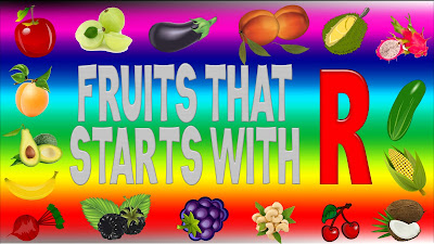 fruits that start with r