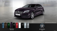 Mercedes A250 2015 màu Tím Northerm Light 592