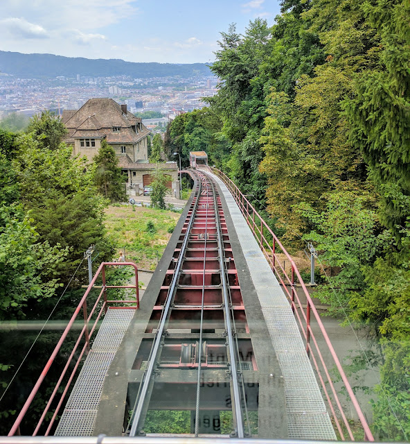 Places to Visit in Zurich in One Day with a ZVV Day Pass: Rigiblick cable car track