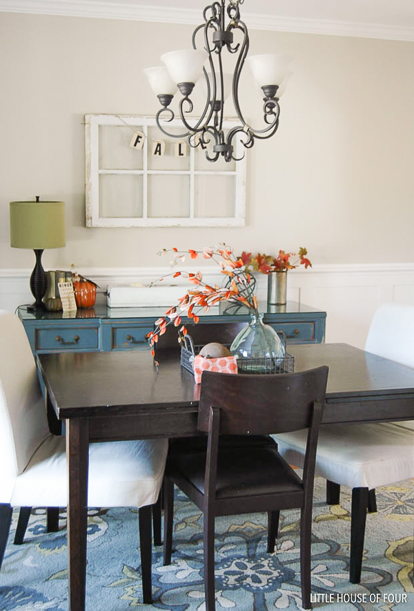 Fall decorated dining room
