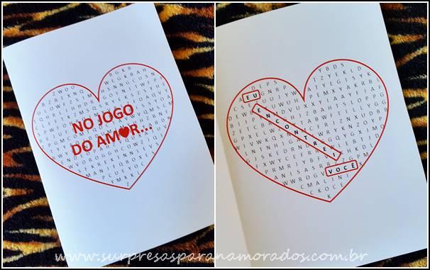 cartão jogo do amor