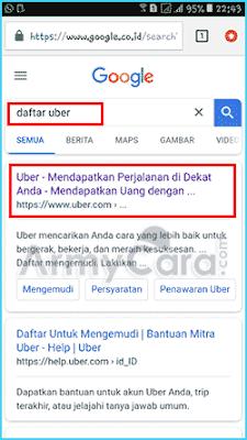 aplikasi Uber motor
