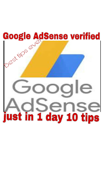 Top 10 Tips to Approve Google AdSense Just in 1 Days.