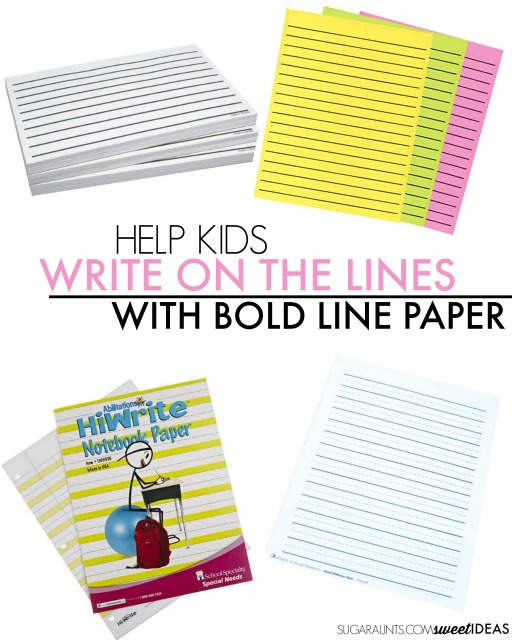 Bold Lines Handwriting Trick The OT Toolbox - Lined Paper To Write On