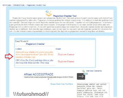 plagiarism cheker - http://tuturahmad.blogspot.co.id/