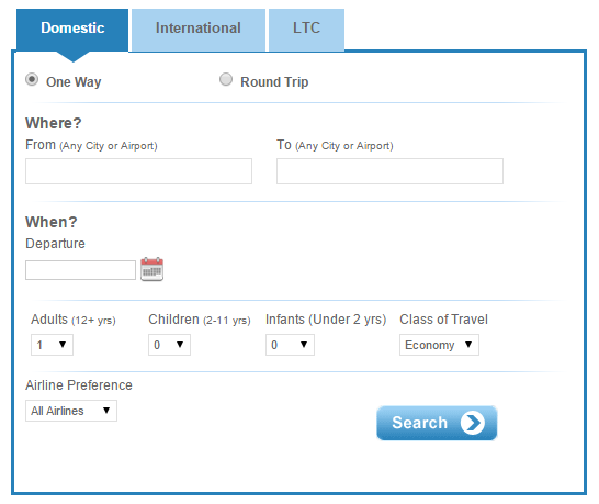 Flight tickets through IRCTC flight booking website