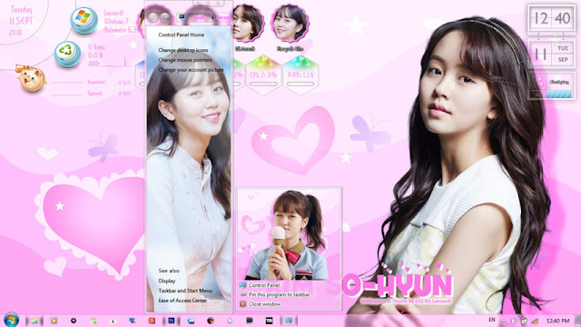 Windows 7 Theme Kim So-Hyun 김소현 / 金所炫 by Enji Riz Lazuardi