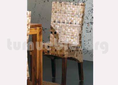 silla comedor rattan j148