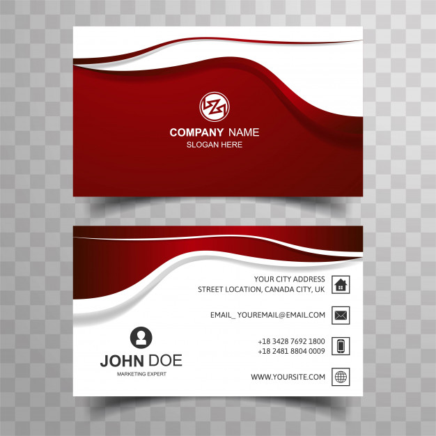 Abstract buisness card with wave design Free Vector