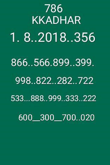 Akshaya AK-356 01-08-2018 kerala lottery abc guessing by KK