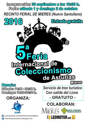Cartel Feria del Coleccionismo Mieres 2016